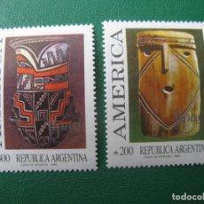 Sellos: +ARGENTINA, 1989, UNION POSTAL AMERICAS-ESPAÑA, YVERT 1695/6. Lote 245257865