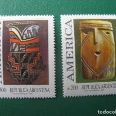 Sellos: +ARGENTINA, 1989, UNION POSTAL AMERICAS-ESPAÑA, YVERT 1695/6. Lote 245258090
