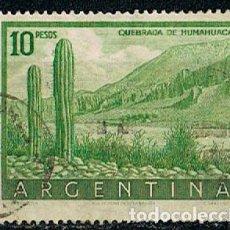 Sellos: ARGENTINA IVERT Nº 555 (AÑO 1953), QUEBRADA DE HUMAHUACA, USADO. Lote 253905610