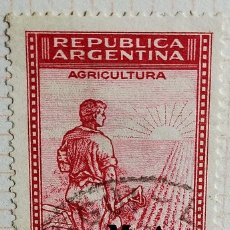 """Sellos: SELLO › ARGENTINA 1937 AGRICULTURE, OVPT. """"M.A."""" 25 ¢. Lote 257536565"""