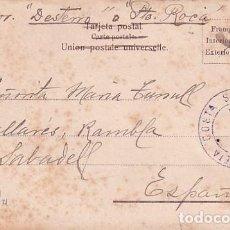 Sellos: FRANQUEO CURIOSO, MARCA CORREOS, SOBRE TARJETA POSTAL ARGENTINA. PATAGONES.. Lote 257625790