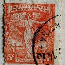 """Sellos: SELLO ›ARGENTINA 1921 ALLEGORY - """"REPUBLICA ARGENTINA"""" 5 ¢. Lote 261997255"""