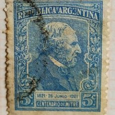 Sellos: SELLO › ARGENTINA 1921 BARTOLOMÉ MITRE 5 ¢. Lote 261998060