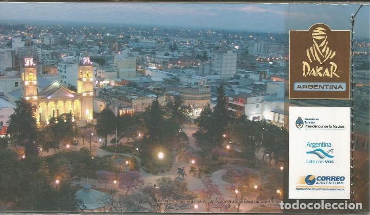 Sellos: CARNET CON 15 SELLOS CARRERA DAKAR ARGENTINA NUEVO MINT VALOR CATALOGO 40 U$S LEER DESCRIPCIÓN - Foto 2 - 265781904
