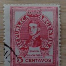 Sellos: ARGENTINA. GENERAL JOSE DE SAN MARTIN.. Lote 268985524