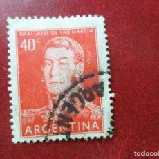 Sellos: *ARGENTINA, 1956, GENERAL SAN MARTIN, YVERT 568. Lote 270874298