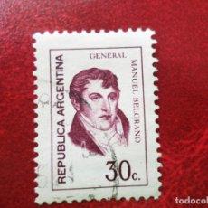 Sellos: *ARGENTINA, 1974, MANUEL BELGRANO, YVERT 972. Lote 270876983