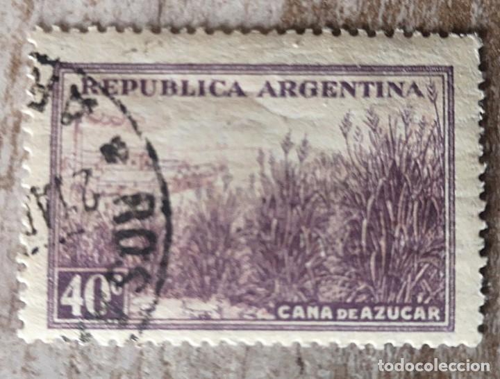 ARGENTINA - VALOR FACIAL 40 C - AÑO 1975 - RIQUEZAS NATURALES, AGRICULTURA, CAÑA DE AZÚCAR (Sellos - Extranjero - América - Argentina)
