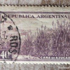 Sellos: ARGENTINA - VALOR FACIAL 40 C - AÑO 1975 - RIQUEZAS NATURALES, AGRICULTURA, CAÑA DE AZÚCAR. Lote 277476308