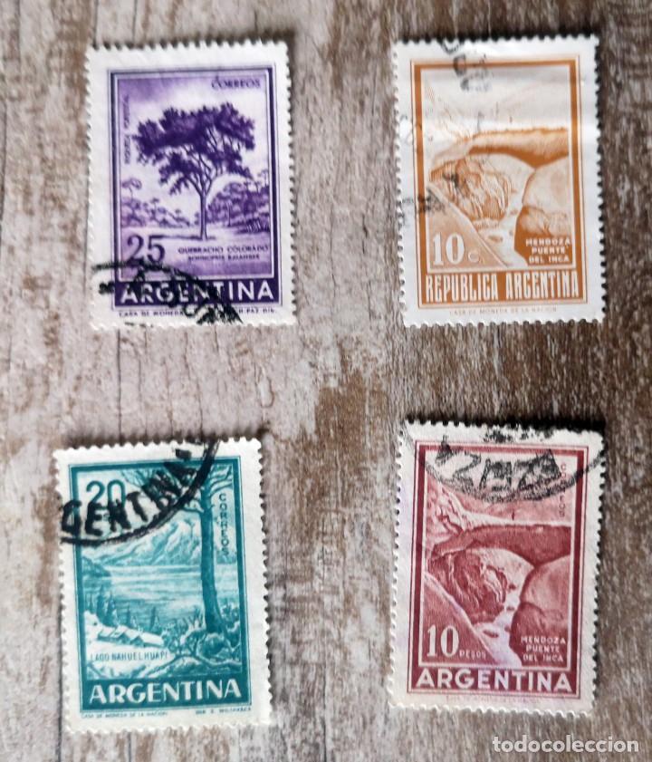 ARGENTINA - 4 SELLOS USADO - PAISAJES (Sellos - Extranjero - América - Argentina)