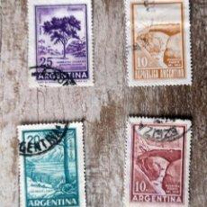 Sellos: ARGENTINA - 4 SELLOS USADO - PAISAJES. Lote 277477743