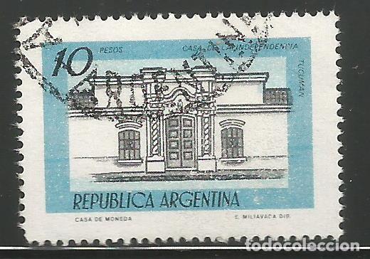 REPÚBLICA ARGENTINA - 10 PESOS - CASA DE INDEPEDENCIA TUCUMAN - USADO (Sellos - Extranjero - América - Argentina)