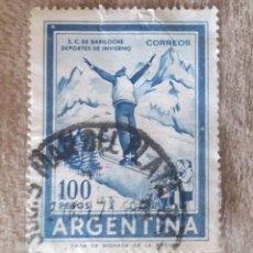 Sellos: ARGENTINA. 1961. SALTOS DE SKI. BARILOCHE. Lote 281020298