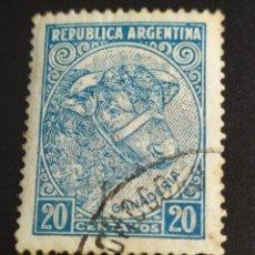 Sellos: ## ARGENTINA USADO 1942 GANADERIA ##. Lote 289006328