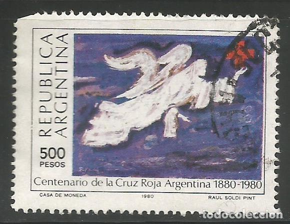ARGENTINA - 1980 - CENTENARIO DE LA CRUZ ROJA DE ARGENTINA - 1880 - 1980 - USADO CON PEQUEÑO DEFECTO (Sellos - Extranjero - América - Argentina)