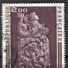 Sellos: FRANCIA 1973 - 2 F YVERT 1743 - BOSERIE DE MOUTIER D'AHUN - USADO. Lote 8107505