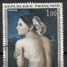 Sellos: FRANCIA 1967 - 1 F YVERT 1530 - PINTURA : LA BAIGNEUSE, DE DOMINIQUE INGRES - USADO. Lote 9444123