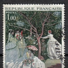 Sellos: FRANCIA 1972 - 1 F YVERT 1703 - PINTURA : FEMMES AU JARDIN, DE MONET - USADO. Lote 8107725