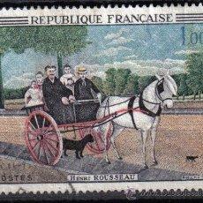 Sellos: FRANCIA 1967 - 1 F YVERT 1517 - PINTURA : H. ROUSSEAU - USADO. Lote 8112438