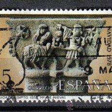 Sellos: ESPAÑA 1978 - 5 P EDIFIL 2491 - ARQUITECTURA : CAPITEL. HUIDA A EGIPTO. NAVARRA - USADO. Lote 8112728