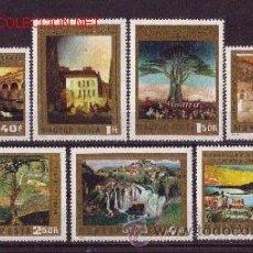 Sellos: HUNGRIA 2315/21*** - AÑO 1973 - PINTURA - OBRAS DE TIVADAR CSONTVARY KOSZTKA. Lote 20260186