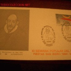 Sellos: SOBRE XI SEMANA POPULAR DEL SELLO, FIESTAS DE SAN ISIDRO 1989, MADRID. GRECO.OLIMPIADAS BARCELONA 92. Lote 2068685