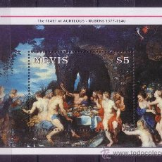 Sellos: NEVIS HB 45** - AÑO 1992 - PINTURA - HOMENAJE A RUBENS. Lote 21789510