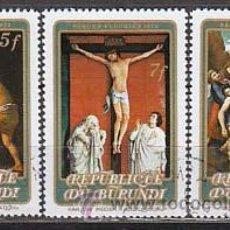 Timbres: BURUNDI, PASCUA FLORIDA 1978, PINTURAS DE RAFAEL, CARAVAGGIO Y VAN DER WEIDEN, USADOS. Lote 13114602