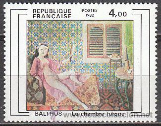 FRANCIA IVERT Nº 2245, BALTHUS: LA HABITACIÓN TURCA, NUEVO (Sellos - Temáticas - Arte)