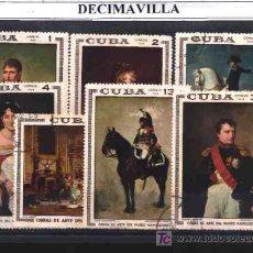 Sellos: PINTURA, CUBA, MUSEO NAPOLEONICO, L096, 1969, SERIE USADA Y COMPLETA. Lote 228568575