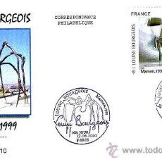 Sellos: MATASELLOS PRIMER DIA - LOUIS BOURGEOIS - MUSEO GUGGENHEIM BILBAO. PARIS 2010. Lote 22487327