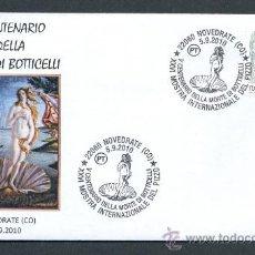 Sellos: ITALIA 2010. MATASELLO ESPECIAL. V CENTENARIO MUERTE SANDRO BOTTICELLI. VENUS. Lote 24199320