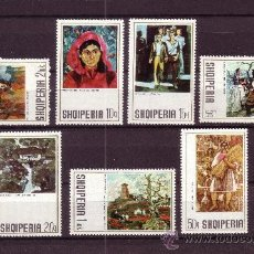 Sellos: ALBANIA 1397/403*** - AÑO 1972 - PINTURA - OBRAS DE PINTORES ALBANESES. Lote 25117146