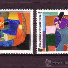 Sellos: FRANCIA 2413/14** - AÑO 1986 - ARTE - PINTURA - OBRAS DE MAURICE ESTEVE Y DE ALBERTO MAGNELLI. Lote 27973072