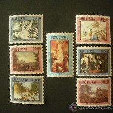 Sellos: GUINEA BISSAU 1989 514/20 *** EXPOSICIÓN FILATÉLICA INTERNACIONAL - PHILEXFRANCE-89 - PINTURA. Lote 28161962