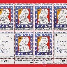 Sellos: S.TOMAS Y PRINCIPE / S.TOME - CENT. PACASSO/ AÑO INT.NIÑO/ NAVIDAD - 6 VAL - S.C.- NUEVA - AÑO 1981. Lote 32188900