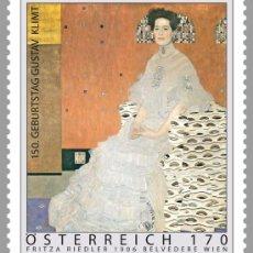 Timbres: PINTURA.AUSTRIA AÑO 2012. 150 ANIVERSARIO NACIMIENTO GUSTAV KLIMT. Lote 32704251