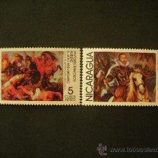 Sellos: NICARAGUA 1978 AEREO IVERT 903/4 *** ANIVERSARIO PINTORES CÉLEBRES - CUADROS DE RUBENS - PINTURA . Lote 33448892