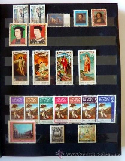 Sellos: Lote 250 sellos nuevos. Países exóticos (Bhutan, Yemen,etc.). Arte / pintura / Napoleón. 1968 - 1970 - Foto 3 - 33850271
