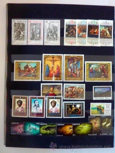 Sellos: Lote 250 sellos nuevos. Países exóticos (Bhutan, Yemen,etc.). Arte / pintura / Napoleón. 1968 - 1970 - Foto 4 - 33850271