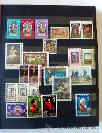 Sellos: Lote 250 sellos nuevos. Países exóticos (Bhutan, Yemen,etc.). Arte / pintura / Napoleón. 1968 - 1970 - Foto 5 - 33850271