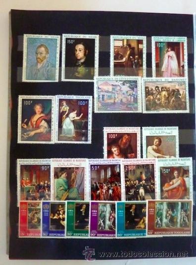 Sellos: Lote 250 sellos nuevos. Países exóticos (Bhutan, Yemen,etc.). Arte / pintura / Napoleón. 1968 - 1970 - Foto 6 - 33850271