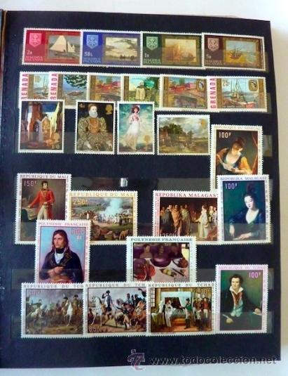 Sellos: Lote 250 sellos nuevos. Países exóticos (Bhutan, Yemen,etc.). Arte / pintura / Napoleón. 1968 - 1970 - Foto 7 - 33850271
