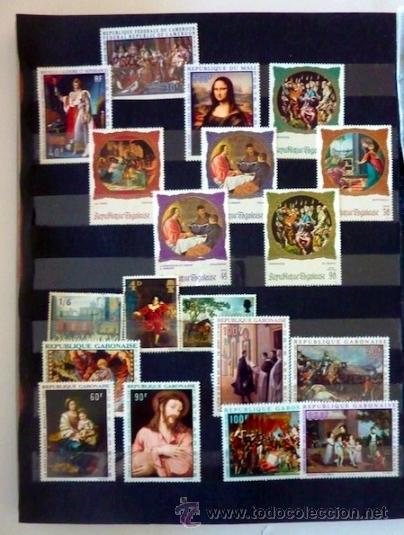 Sellos: Lote 250 sellos nuevos. Países exóticos (Bhutan, Yemen,etc.). Arte / pintura / Napoleón. 1968 - 1970 - Foto 8 - 33850271