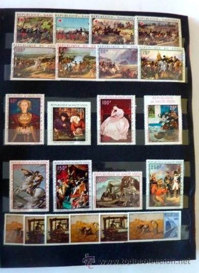 Sellos: Lote 250 sellos nuevos. Países exóticos (Bhutan, Yemen,etc.). Arte / pintura / Napoleón. 1968 - 1970 - Foto 9 - 33850271