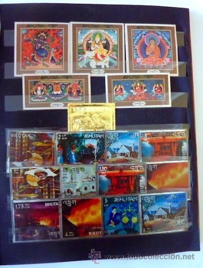 Sellos: Lote 250 sellos nuevos. Países exóticos (Bhutan, Yemen,etc.). Arte / pintura / Napoleón. 1968 - 1970 - Foto 11 - 33850271