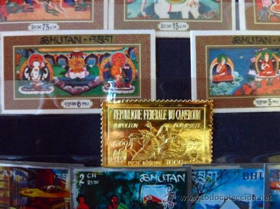 Sellos: Lote 250 sellos nuevos. Países exóticos (Bhutan, Yemen,etc.). Arte / pintura / Napoleón. 1968 - 1970 - Foto 13 - 33850271