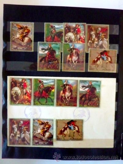 Sellos: Lote 250 sellos nuevos. Países exóticos (Bhutan, Yemen,etc.). Arte / pintura / Napoleón. 1968 - 1970 - Foto 17 - 33850271
