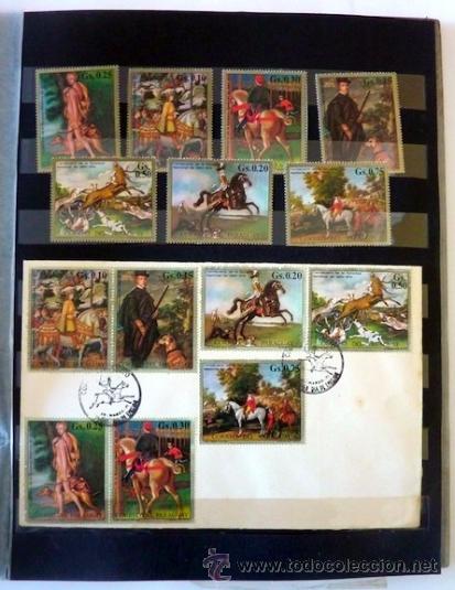 Sellos: Lote 250 sellos nuevos. Países exóticos (Bhutan, Yemen,etc.). Arte / pintura / Napoleón. 1968 - 1970 - Foto 20 - 33850271