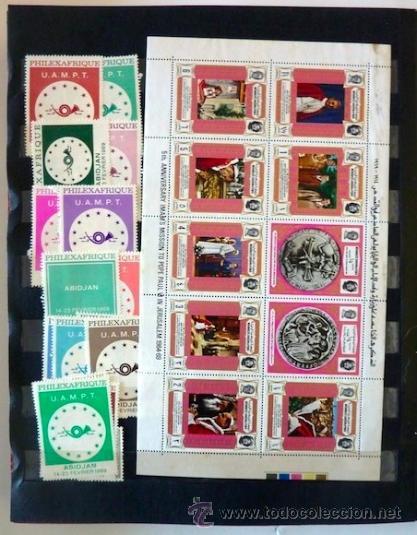 Sellos: Lote 250 sellos nuevos. Países exóticos (Bhutan, Yemen,etc.). Arte / pintura / Napoleón. 1968 - 1970 - Foto 23 - 33850271